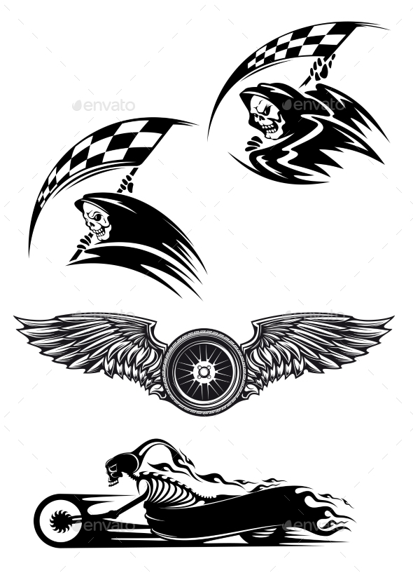 GraphicRiver Motocross Mascot Design 9967482