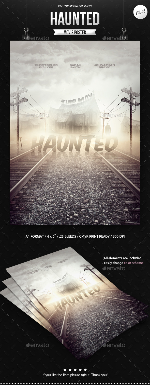 GraphicRiver Horror Movie Poster [Vol.5] 9968024