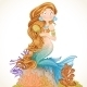 Mermaid Combing Hair - GraphicRiver Item for Sale