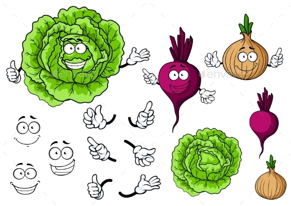 GraphicRiver Vegetable Cartoons 9968212