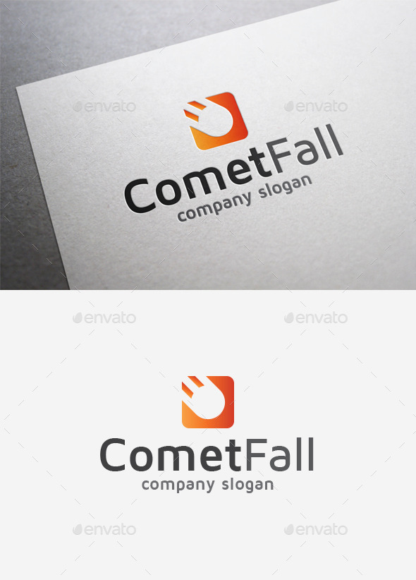 GraphicRiver Comet Fall Logo 9968214