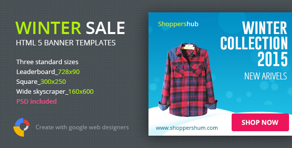 CodeCanyon Winter Sale Shopping HTML5 Banner Template 9968220