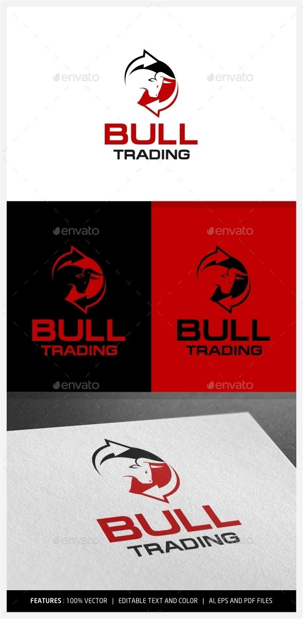 GraphicRiver Bull Trading Logo 9968276