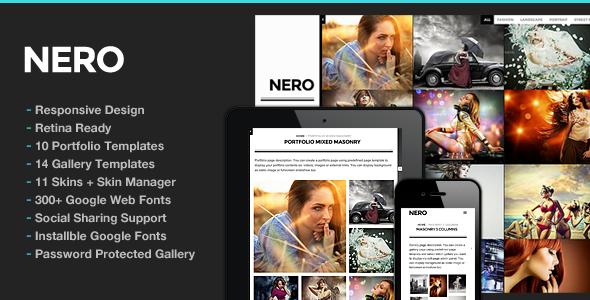 Nero Responsive Portfolio Photography Theme - Portfolio Creative