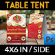 Restaurant and Cafe Table Tent Template Vol6 - GraphicRiver Item for Sale