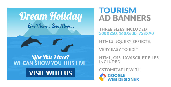CodeCanyon Tourism & Travel 2 Island HTML5 Ad Banner 9970402
