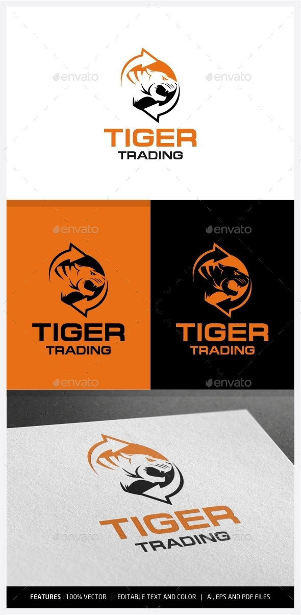 GraphicRiver Tiger Trading Logo 9971382