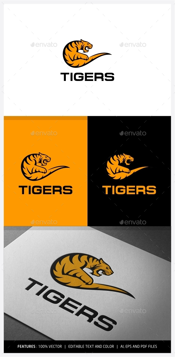 GraphicRiver Tiger Logo 9972452