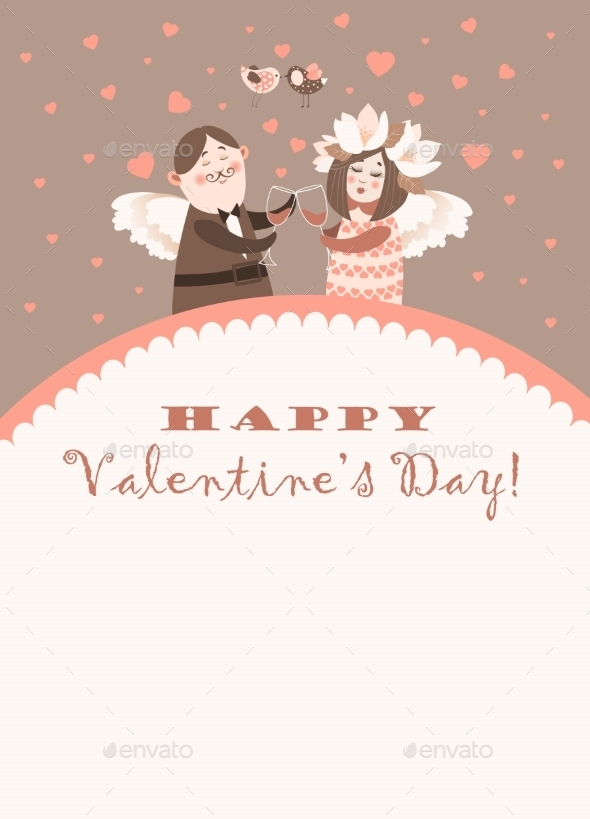 GraphicRiver Valentine s Day Angels 9972761