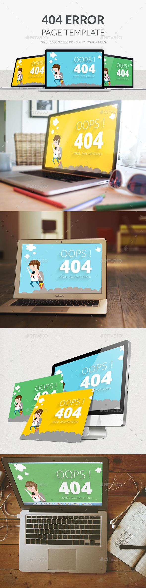 GraphicRiver 404 Error Page PSD 9974884