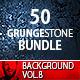 50 Grunge Stone Backgrounds Bundle Vol.1