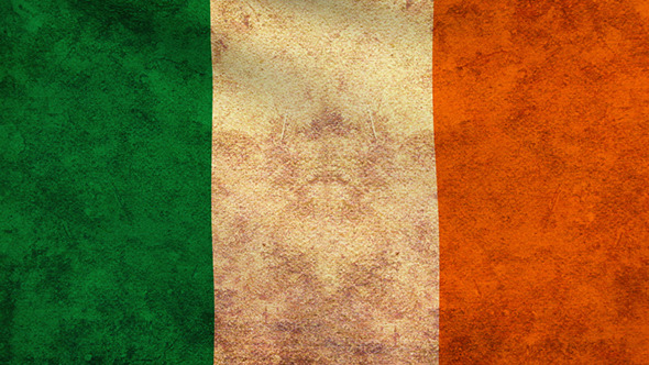 Ireland Flag 2 Pack Grunge and Retro