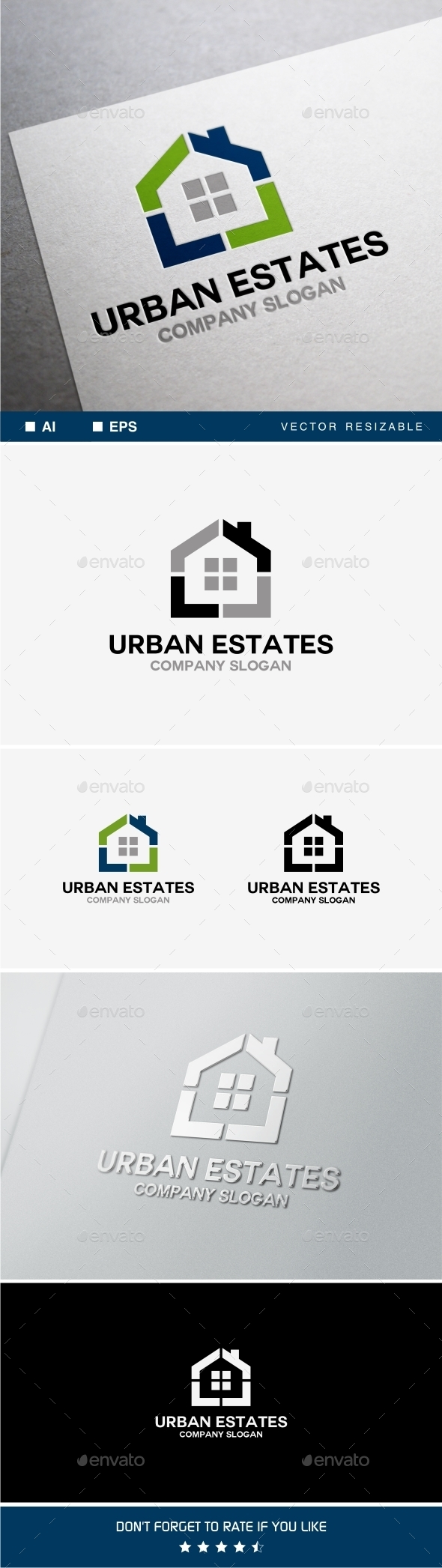 GraphicRiver Urban Estates Logo 9975386