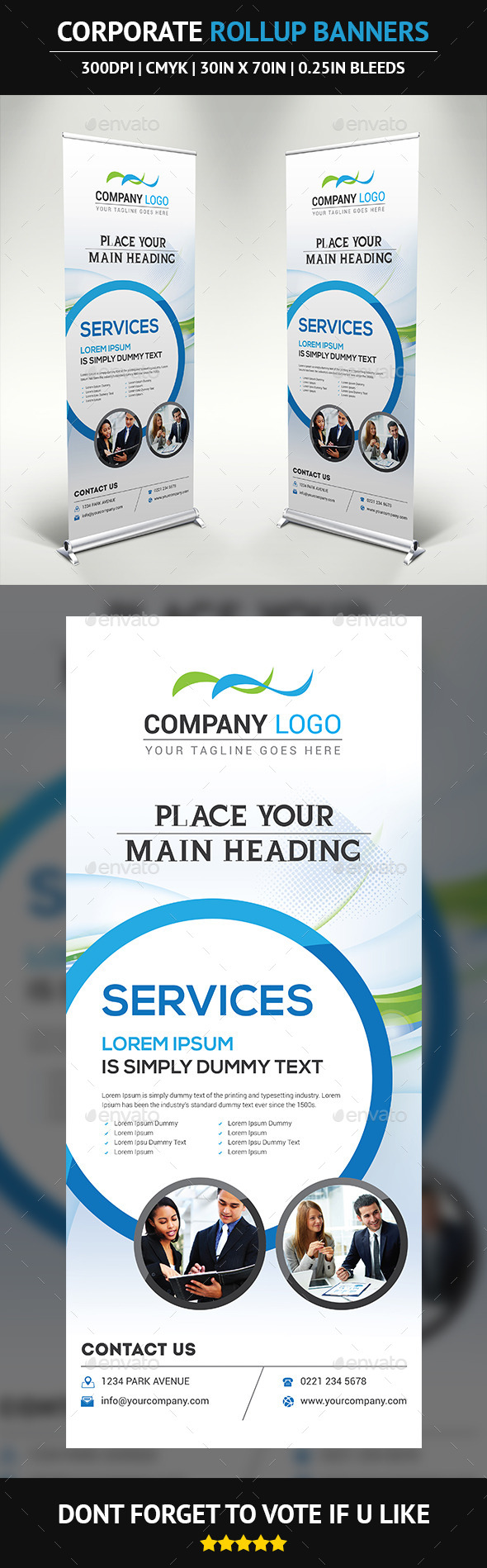 GraphicRiver Corporate Rollup Banner 9975544