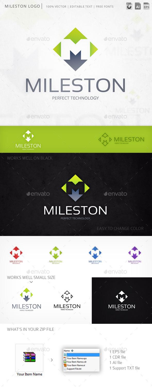 GraphicRiver Mileston Logo 9975578