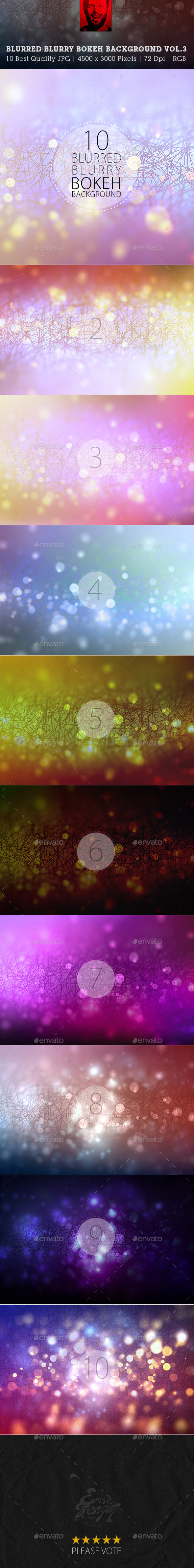GraphicRiver Blurred Blurry Blur Bokeh Backgrounds Vol.3 9975642
