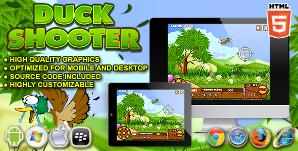 Duck Shooter HTML5 Game