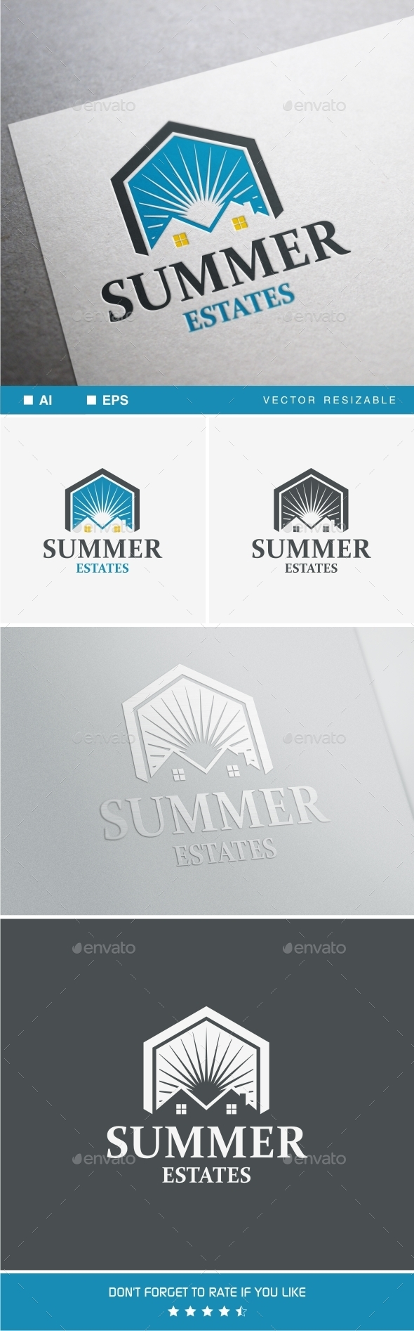 GraphicRiver Summer Estates Logo 9975714