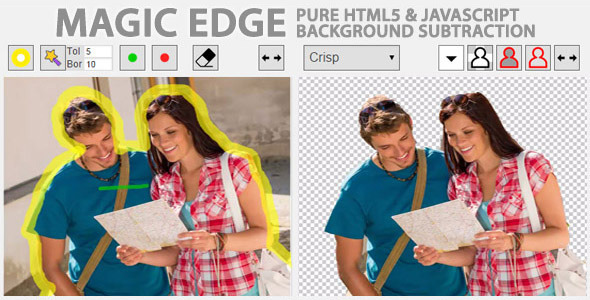 Magic Edge Pure JavaScript Background Remover