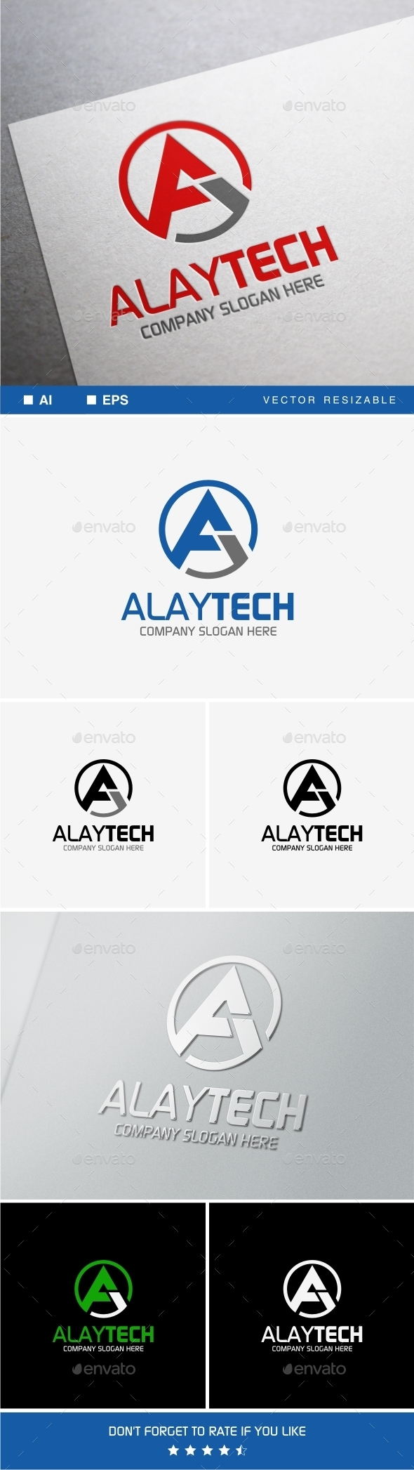 Alaytech A Letter Logo Template