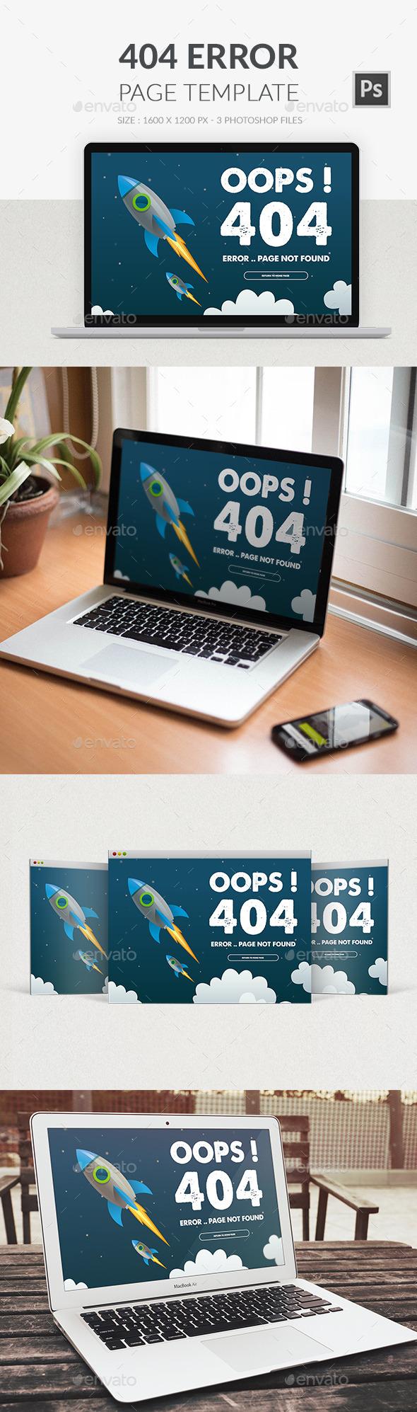 GraphicRiver 404 Error Page PSD 9975904
