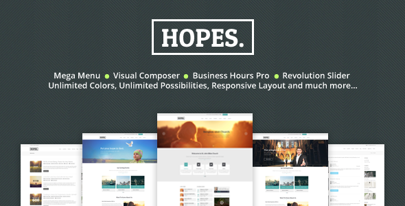 Hopes - Church & Multi Purpose WordPress Theme