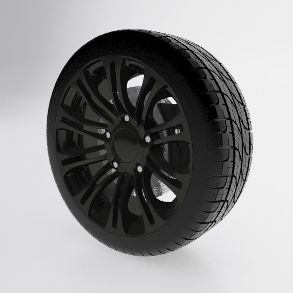 3DOcean Alloy wheel with tire 9976161