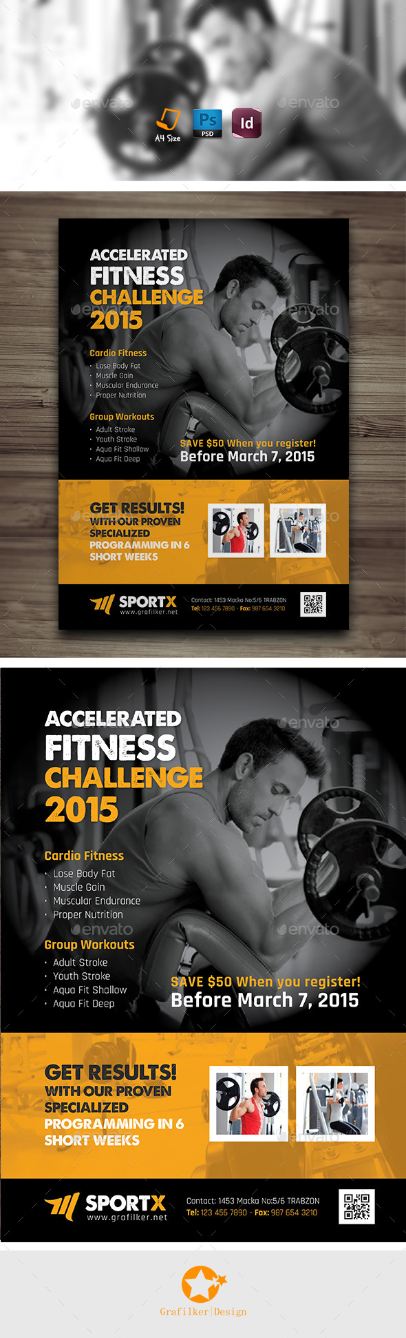 Fitness Center Flyer Templates