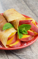 Crepes with peaches - PhotoDune Item for Sale