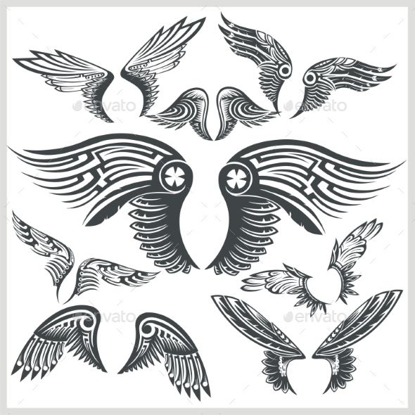 GraphicRiver Vector Wings Set 9976515