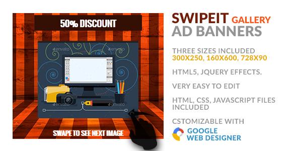 CodeCanyon SwipeIt Gallery HTML5 GWD Ad Banner 9976584