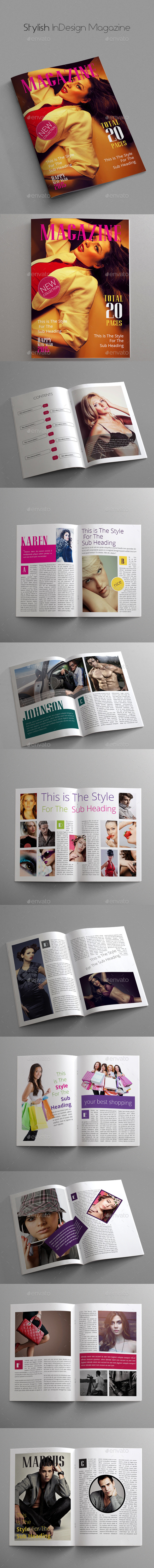 GraphicRiver Stylish InDesign Magazine 9954126