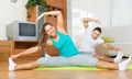 Couple having yoga class - PhotoDune Item for Sale