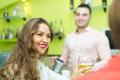 Girls flirting with barman - PhotoDune Item for Sale
