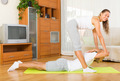Healthy couple doing fitness - PhotoDune Item for Sale