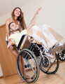 Smailing  man on wheelchair - PhotoDune Item for Sale