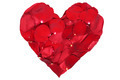 Heart from blossoms of red roses love topic on Valentine's and mothers day