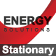 3D POWER & ENERGY Stationary  - GraphicRiver Item for Sale