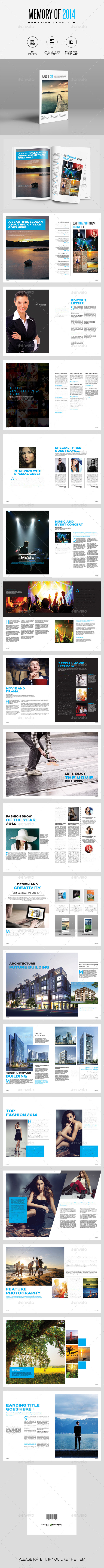 GraphicRiver Memory of 2014 Magazine 9977690