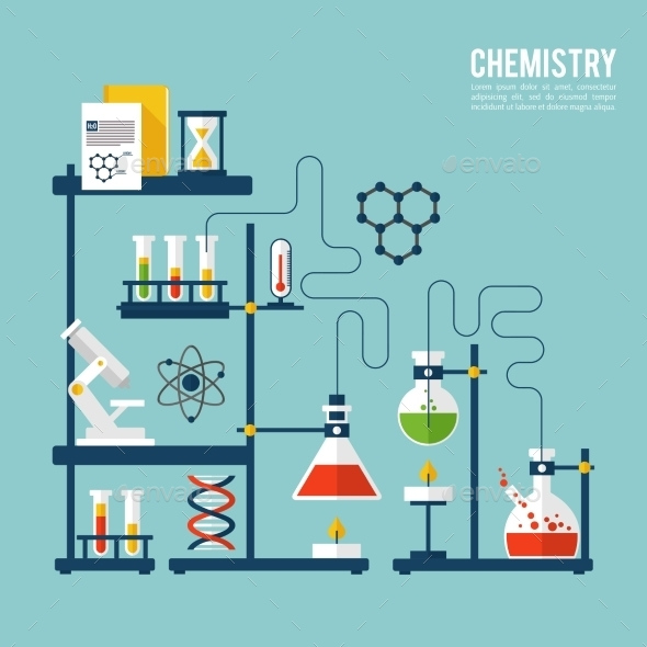 GraphicRiver Chemistry Background Template 9979031