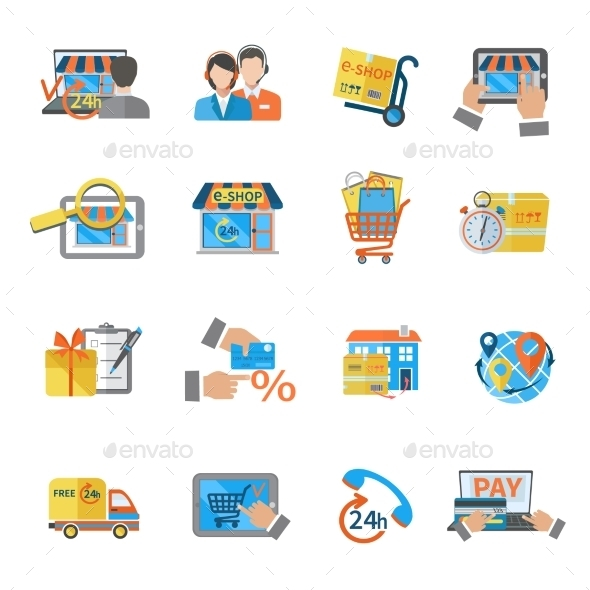 GraphicRiver Shopping E-commerce Icon 9979095