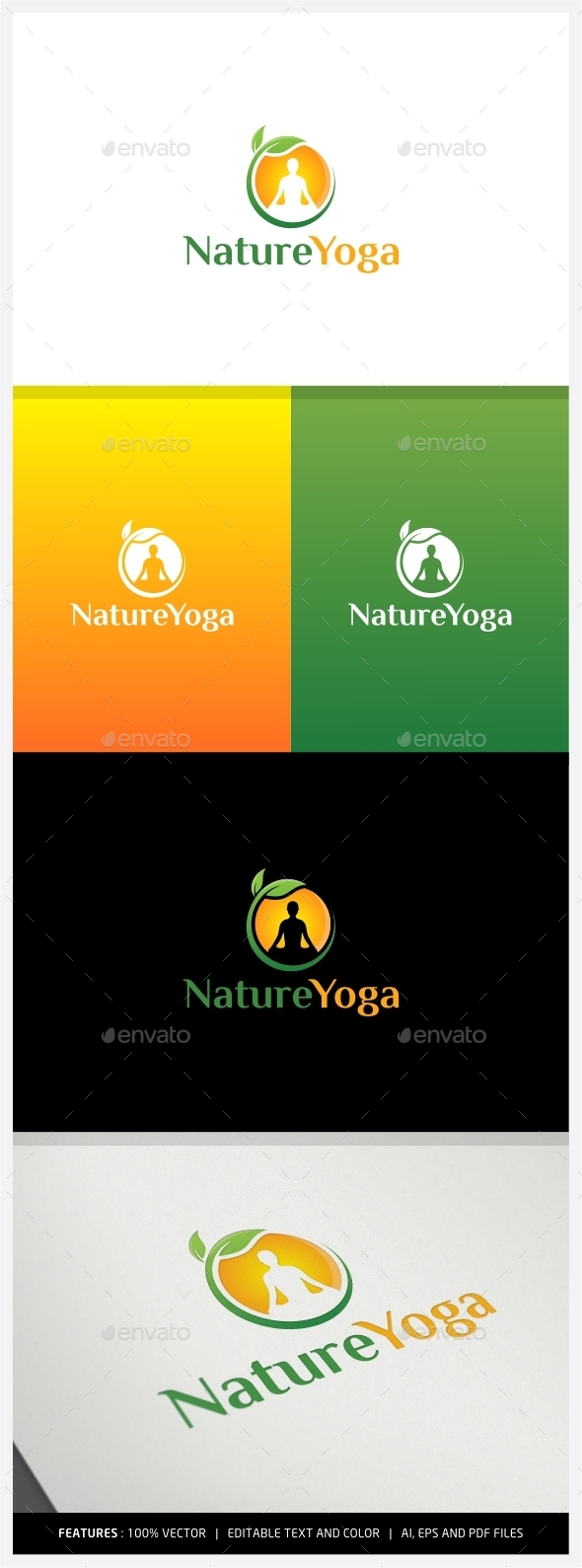 GraphicRiver Nature Yoga Logo 9979189