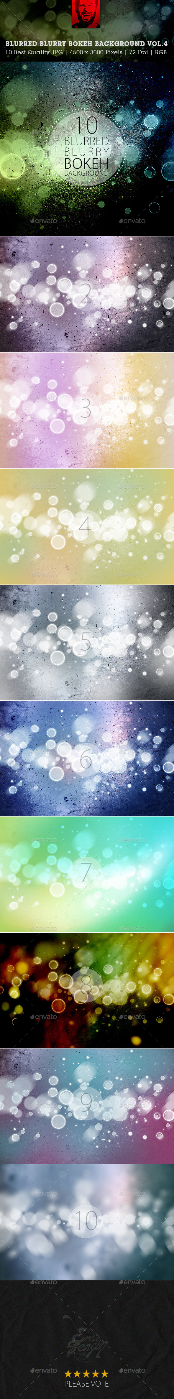 GraphicRiver Blurred Blurry Blur Bokeh Backgrounds Vol.3 9979410
