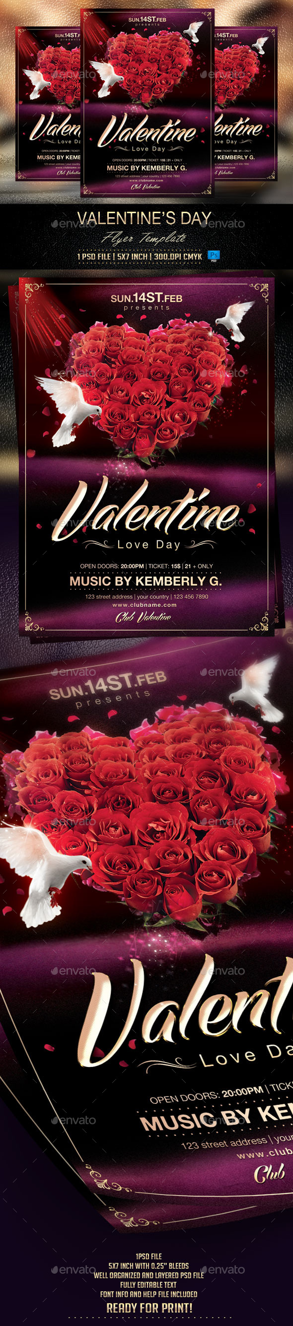 Valentine s Day Flyer Template