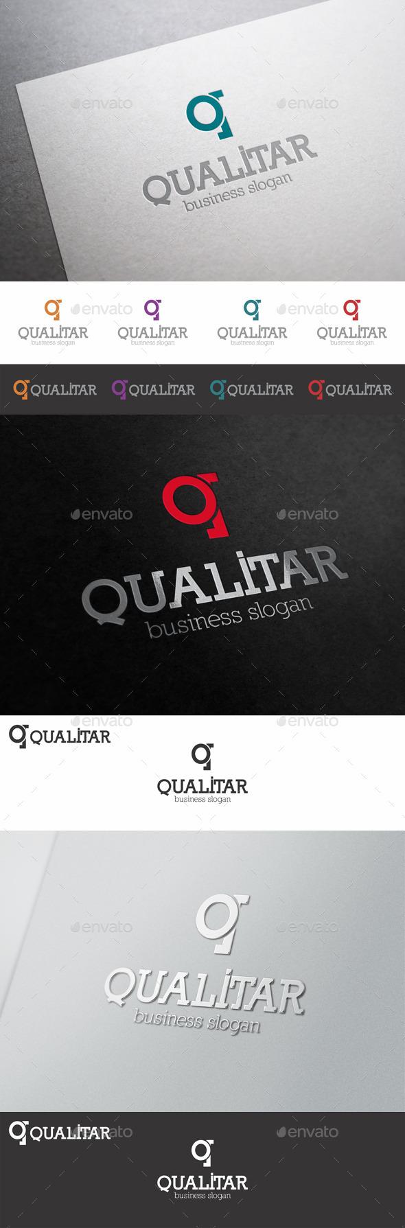 GraphicRiver Q Letter Logo Shape Qualitar 9980286