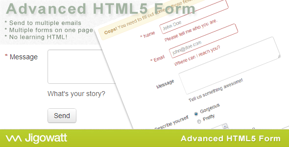 Advanced HTML5 Contact Form - CodeCanyon Item for Sale
