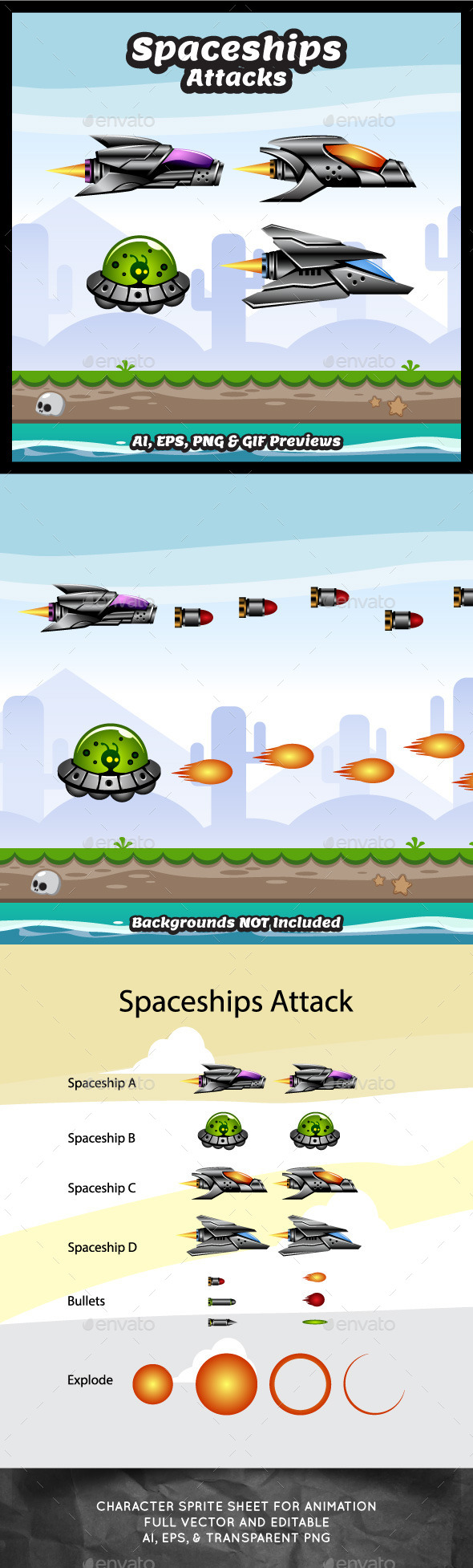 GraphicRiver Spaceship Attacks 9980496