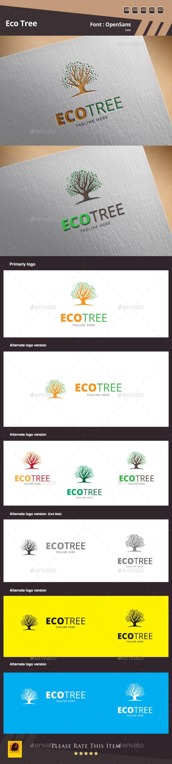 GraphicRiver Eco Tree Logo Template 9980536
