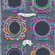 Set of Six Vintage Graphic Colored Garlands - GraphicRiver Item for Sale