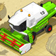 Isometric Green Thresher at Work in Front View - GraphicRiver Item for Sale